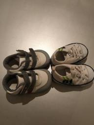 Sapatos número 15 e 17