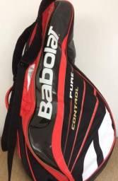 Raqueteira de tênis Babolat Pure Control e acessórios