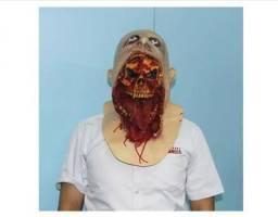 Fantasia Hallowen Mascara Zumbi Monstro - Silicone Realista