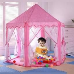 Barraca Infantil Rosa Tenda Infantil Castela Cabana para Crianças