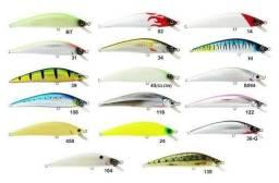 Materiais para pesca (carretilhas molinetes vara iscas linhas é muito mais