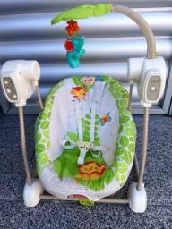 Cadeira de descanso vibra e toca e balanca