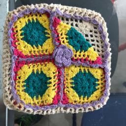 Porta guardanapos de crochê