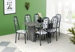 Conjunto Mesa Estone 06 cadeiras granito = Frete + Montagem grátis!