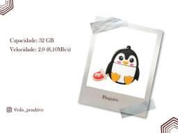 Pendrive 32 GB Pinguim personalizado