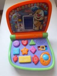 Meu primeiro laptop da Fisher Price Aprender e Brincar
