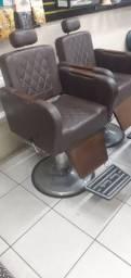 Cadeira de barbeiro retrô Terra Santa