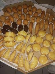 Promoção kit festa 500 salgados variados