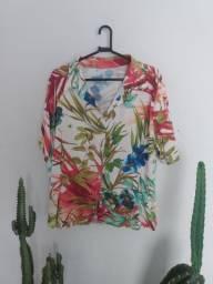 Camisa floral GG