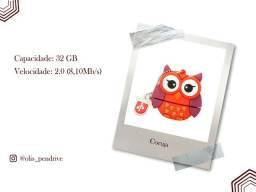 Pendrive coruja personalizado 32 Gb