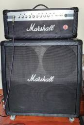 Kit Marshall Cabeçote + Caixa 4x12 + Foot - zerado!, usado comprar usado  Patrocínio