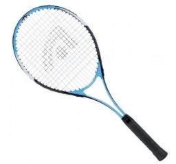 Raquete de Tênis + case + 6 bolas + grip confort