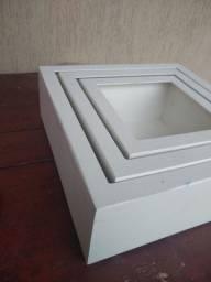 Nicho Branco Kit 3 Peças