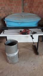 plaina elétrica +calha+Suporte carro+mesa escrivania