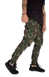 Calça Jogger Masculina Camuflada Rip Stop Soldier Swag