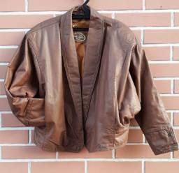 Jaqueta tamanho P/M couro