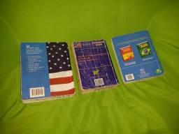 3 mini dicionários de inglês, usados mas em bom estado