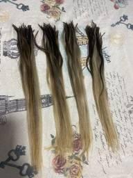 Mega hair brasileiro já com ombre hair