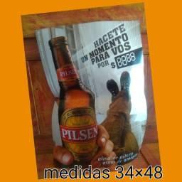 Antigo poster cerveja pilsen