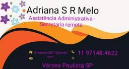 Secretária remota - Assistência Administrativa