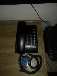 Telefone com fio em perfeito estado com todos os fios para uso