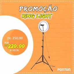 Ring light 10P com tripé