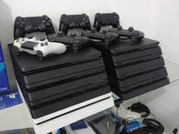 Playstation 4 Ps4 Slim 500GB Preto / Troco / Parcelo