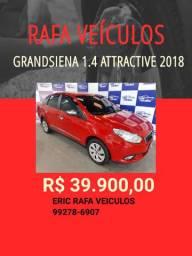 FIAT GRANDSIENA 1.4 2018 COM 1 MIL REIAS DE ENTRADA - só na Rafa Veículos