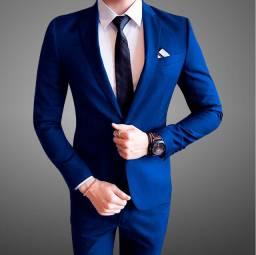 Terno slim fit azul royal -Promocao nesta segunda e terca