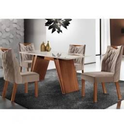 Conjunto Sala de Jantar Mesa Atena e 4 Cadeiras