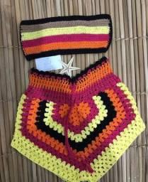 Conjunto de crochê/ bloguerinha