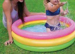 2 piscinas infláveis