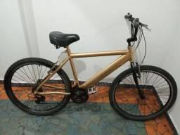 Bicicleta de Alumínio Cor Dourado Metálico Aro 26 Linda Top !!!