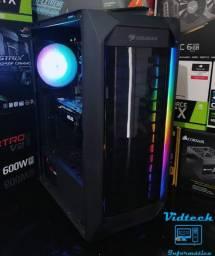 PC Gamer Core i3 8100 + RX 580 8GB - Novo e com garantia