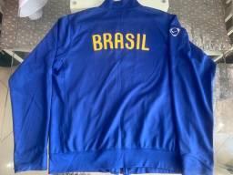 Jaqueta Nike oficial seleção brasileira modelo retrô