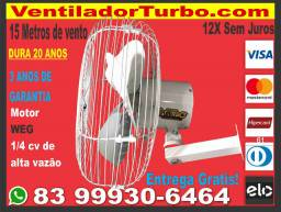 Ventilador Turbo Industrial e Super Potente, dura 20 Anos, 15 metros alcance, Motor 1/4cv
