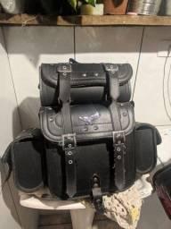 Kit bagageiro + viseira p/ motocicleta