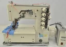 Máquina de Costura Galoneira Industrial 3 Agulhas Bracob BC5000D Direct Drive