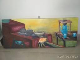 Painel Decorativo em Madeira de Demolição