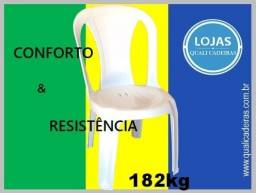 Cadeira Sofhie Branca uso comercial suporta 182kg