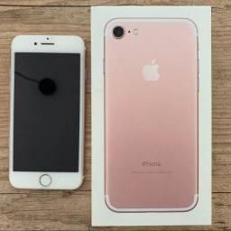 Iphone 7 rose gold novo na garantia 32gb