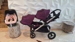 Baby Jogger City Select com bebê conforto maxi cosi