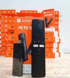 Tv Box Mi TV Stick Xiaomi Full HD com Wi-Fi e Bluetooth - Preto