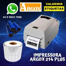 Impressora argox214 plus nova com garantia de fabrica