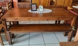 Mesa de madeira 2 metros