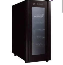 Adega Climatizada Brastemp Wine Cooler BZC12BE para 12 Garrafas 50W All Black - 220V
