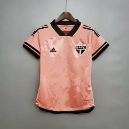 Camisa feminina do São Paulo, modelo especial outubro rosa