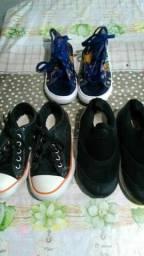 3 par de tênis por 30 reais