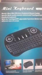 Mini teclado wireless com led