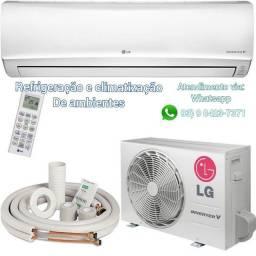 Serviços de refrigeração e climatização de ambientes